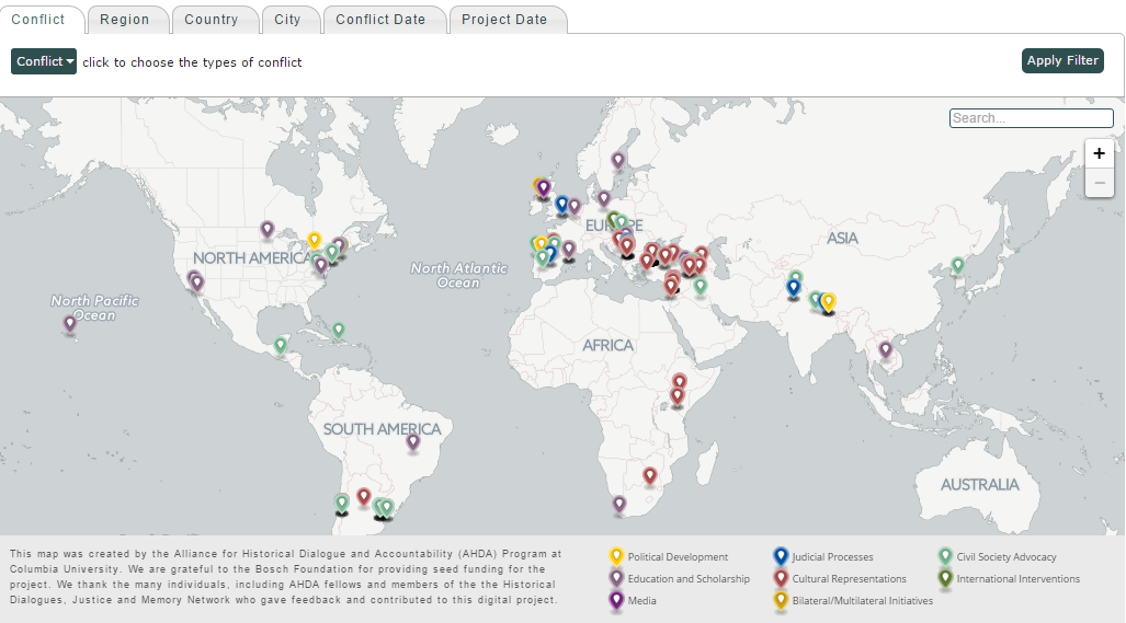 New online resource maps historical dialogue projects worldwide hosted by the columbia university based alliance for historical dialogue and accountability presents a new online tool that maps initiatives dealing gumiabroncs Image collections