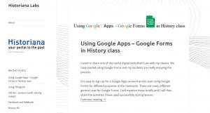 Historiana Labs Screenshot