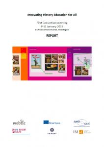 1st IHEA Consortium Meeting 9 - 11 January 2015