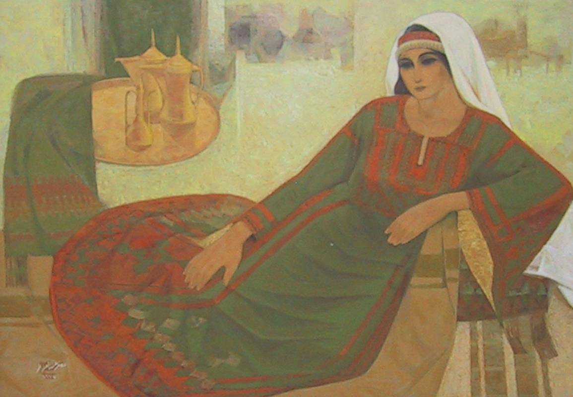 Nasr Abdel Aziz Eleyan: Palestinian woman resting