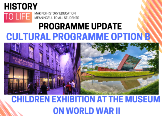 Programme update cultural programMe option B