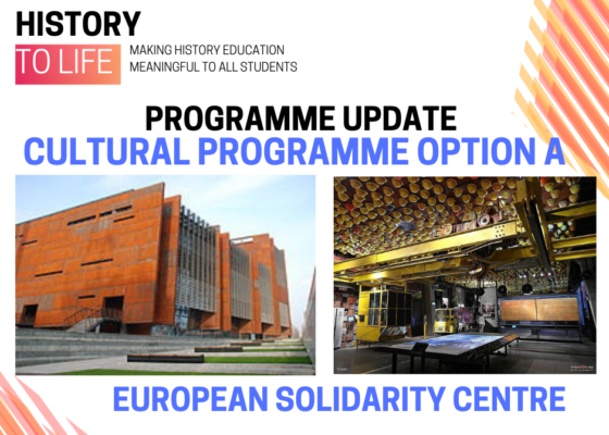 Programme update cultural programee option A